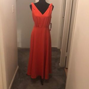 Orange sleeveless dress